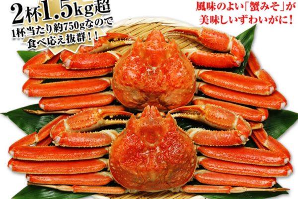 かに本舗 ズワイガニの北海道紋別浜茹でボイル姿を人数で比較して購入